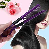 lailongp V tipo minicorrea alisador de cabello, pelo de peine de cepillo de pelo (