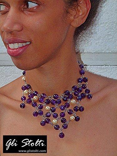 collana-elegante-artigianale-a-girocollo-in-ametista-e-perle-antiche-mater-borealis