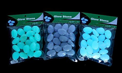 165 g / 3,5 cm Deko Leuchtsteine Leuchtkiesel Dekosteine Steine Tischdeko Tischdekoration
