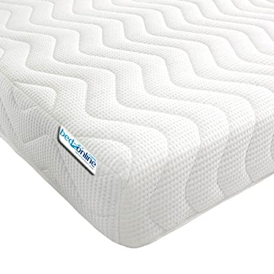 Bedzonline Memory Foam and Reflex 3 Zone Mattress with 2 Fibre Pillows Micro Quilted cool flex Cover, Double, 4 ft 6-inch, 135 x 190 cm - inexpensive UK bed shop.