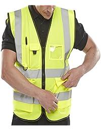 Islander Fashions Adult High Visibility Waistcoat Mens Sports Ropa de Trabajo Safety Reflective Vest M / 5XL