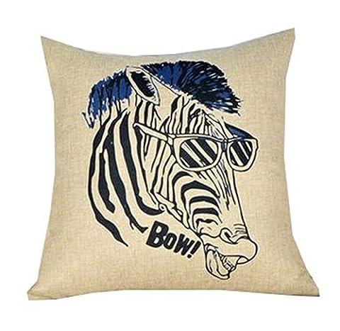 Lovelife' - Home Decorative Zebra Style Design Digital Print Square
