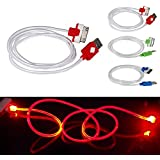ELENXS® Fashion Practical Visible LED Light USB Data Sync Charger Charging Cable Cord For iPhone4/4S Red