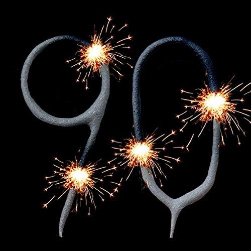 Wunderkerzen-Set für Tortendeko Zum 90. Geburtstag, Geburtstagskuchen-Dekoration