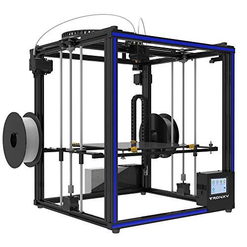TRONXY X5ST-2E 3D-Drucker 2 in 1 Out-Extrusions-Bausatz, Filament-Sensor-Resume-Druckwürfel-Vollmetallquadrat mit 3,5-Zoll-Touchscreen Großes Druckformat 330 * 330 * 400 - 3
