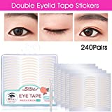 Lameila 240 Pair NaturaL Invisible Fiber Double Eyelid Tape Stickers - Instant Eye Lift Without Surgery - Perfect for Hooded, Droopy, Uneven, or Mono-eyelids (Natural Complexion, Slim)