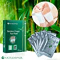 NATUDEPUR® 100% Natural Organic Detox Foot Patches, Detox Foot Pads, Detoxifying Foot Pads, Exfoliating Pads - Remove Body Toxins, Detox Cleanse Weight Loss, Body Stress Relief, Enhance Blood Circulation, Metabolism Booster, Pain Relief, Foot Care, Improv