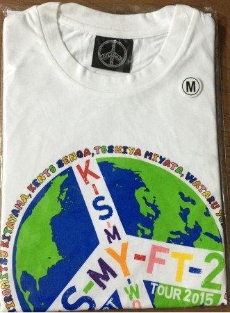 Kis-My-FT2 Kisumai offizielle Waren 2015 KONZERT TOUR KIS-MY-WORLD-T-Shirt (Grose M) (Konzert-tour-shirt)