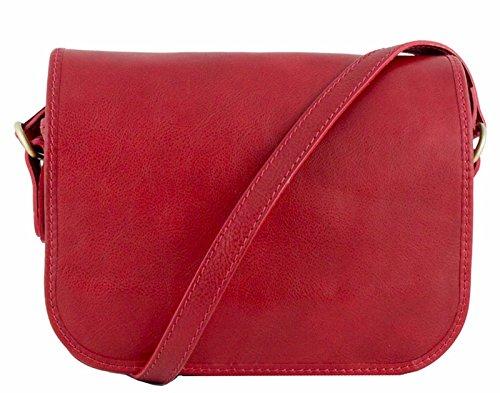 G&G pelletteria fiorentina Borsa tracolla in vera pelle Rosso