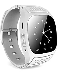 Leopard Shop rwatch m26s gestión inteligente de deportes de Bluetooth sueño podómetro reloj marcación SMS Blanco