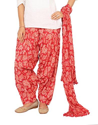 Rama Red Color Ragular Fit Paisley Print Full Patiala and Dupatta Set