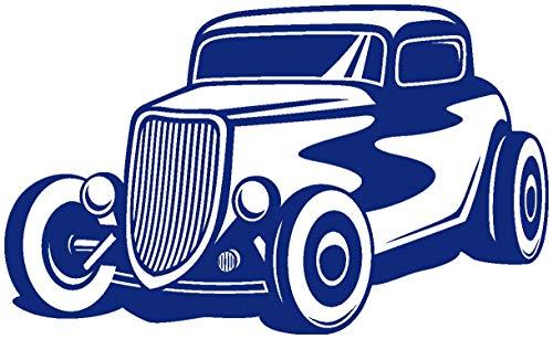 Samunshi® Hot Rod Wandtattoo Oldtimer Wandsticker Tuning Car Ratrod Wandaufkleber in 10 Größen und 25 Farben (160x94cm königsblau) (Rod-wand-aufkleber Hot)