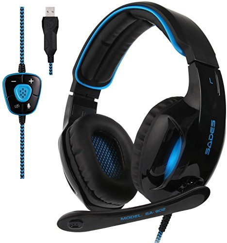 Virtual 7.1 Channel USB Wired Mic Stereo LED RGB Light Gaming Headphone Headset