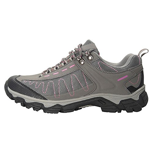 Mountain Warehouse Skyline Womens Camping Travelling Trail Shoe Hiking Outdoors Walking Shoes Grey 7 UK