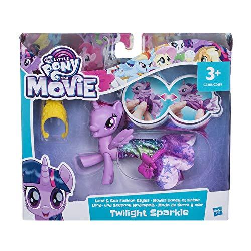 My Little Pony: Der Film - Land- & Seepony Modespass - Prinzessin Twilight Sparkle - Spielfigur mit Verwandlungsoutfit (Mädchen-outfits Little Pony My)