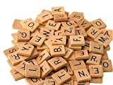 Prochive 100 PCS Wooden Scrabble Letters Tiles Craft Jewellery Making Complete Set Scrapbooking Kit for Crafts, Pendants, Spelling