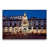 Premium Tessile della tela 45cm x 30cm Croce Brescia, Torre dell' Orologio e Loggia edificio, 75x50 cm