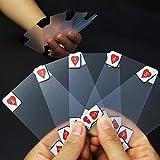 SODIAL Kreative transparente Plastikwasserdichte Schuerhaken-Neuheits-Poker-Index-Spielkarten