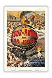 Le Tour du Monde en 80 Jours - Jules Verne - Théâtre du Châtelet - Affiche Ancienne de Theatre de L. Charbonnier c.1874 - Reproduction Professionelle d'art Master Art Print - 31cm in x 46cm...