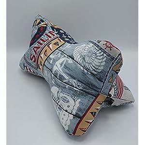 Ergonomischer waschbarer Leseknochen – Made in Germany: Meditationskissen/Relaxkissen/Nackenkissen – Bücher-/Tablet-/Smartphone-/Handystütze – maritimes Design, retro Style