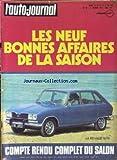Telecharger Livres AUTO JOURNAL L No 18 du 15 10 1973 BONNES AFFAIRES RENAULT 16 TX SALON (PDF,EPUB,MOBI) gratuits en Francaise