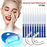 Teeth Whitening Kit Dental Bleaching Professionelle Zahnaufhellung-10x 3ML Whitening GEL, 2x Mouth Trays, 1x LED Light, 1x Lab Dip and 5x Free Teeth Wipe, MEHRWEG