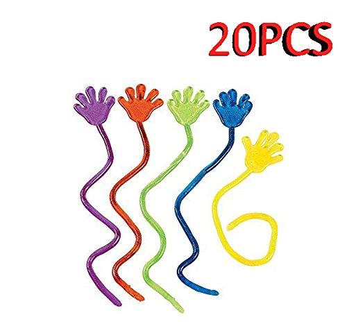 LeisialTM 20 Stück, Spielzeug für Kinder, Vinyl Glitter Mini Sticky Handspielzeuge für Kinder, Party, Geburtstage, Farbvielfalt