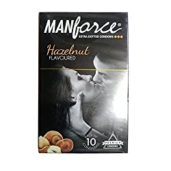 Manforce Hazelnut Condoms - Extra Dotted 10s pack (10)