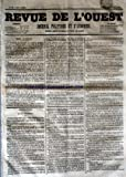 Telecharger Livres REVUE DE L OUEST No 83 du 12 07 1853 JOURNAL POLITIQUE ET D ANNONCES (PDF,EPUB,MOBI) gratuits en Francaise