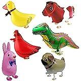 Globo - SODIAL(R)6pzs Globos de animal caminando Decoracion de fiesta de cumpleanos Regalo de ninos - Incluyendo Conejo, Dinosaurio, Caballo, Pato, Pollo, Pequines