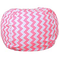 Preisvergleich für FOONEE Spielzeug Aufbewahrung Bean Bag Stuhl Cozy Liege, großes Spielzeug Organizer–Leinwand Stuffed Animal Organizer Pouch (45,7cm/66cm/81,3cm für Wahl) Yck13-18''