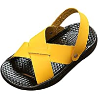 Lonshell -Zapatos Zapatos Niñas Verano Hueco Sandalias de Playa Zapatillas de Verano Color Pure