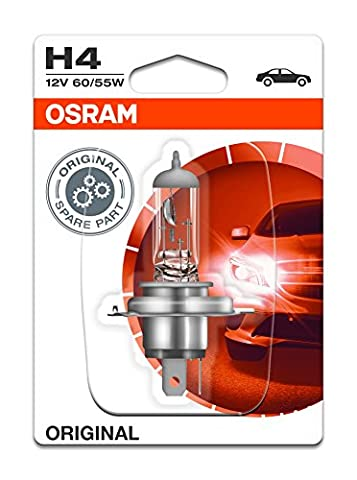 OSRAM ORIGINAL H4, halogen-headlamp bulb, 64193-01B, 12V, single blister (1 piece)