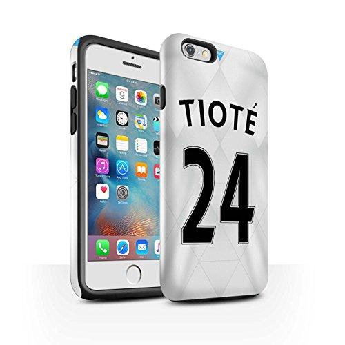 Offiziell Newcastle United FC Hülle / Glanz Harten Stoßfest Case für Apple iPhone 6+/Plus 5.5 / Sissoko Muster / NUFC Trikot Away 15/16 Kollektion Tioté