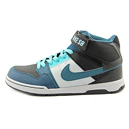 Nike Mogan Mid 2 Jr B, Baskets Hautes Garçon BLACK TEAL LT RETRO WOLF GREY