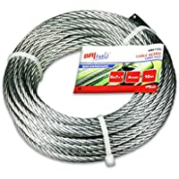 BriTools M86122G - Cable acero galvanizado (4 mm) color galvanizado