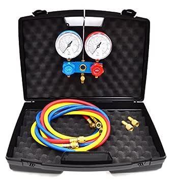 2 Wege Monteurhilfe R32 R410a R407c R134a KÄlte Manometer Klima 3 SchlÄuche Alle Produkte