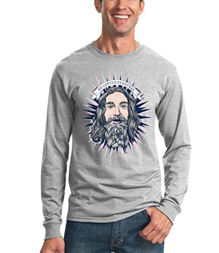 stay-gentle-everyday-cool-n-funny-mens-unisex-sweatshirt-grau-x-large