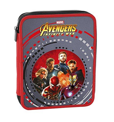 Astuccio maxi marvel , avengers infinity war , rosso multicolore , con contenuto: matite, pennarelli...