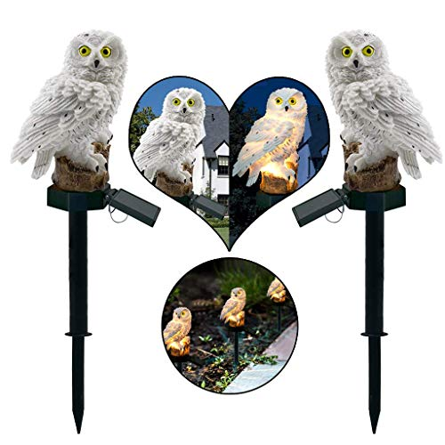 Xinxie3 Solar 3D Eulen Landschaft Lichter - LED-Gartenlichter Solar Nachtlichter Owl Shape Solar-Powered Rasenlampe, Bis Zu 8 Stunden Solarlampe,A (Powered Led-flut-licht Solar)