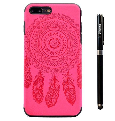 """inShang iPhone 7 Plus 5.5"""" Coque Housse de Protection Etui pour iPhon 6 5.5 inch ,Ultra mince et léger TPU matériel Le Style Pratique Coque arrière (back case) ,+ Qualite inShang Logo Pens Haute Style Rose chimes"""