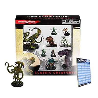D&D Icons of the Realms: Classic Creatures Box Set by WizKids + Promo Miniature Demogorgon + Andycards Scorepad