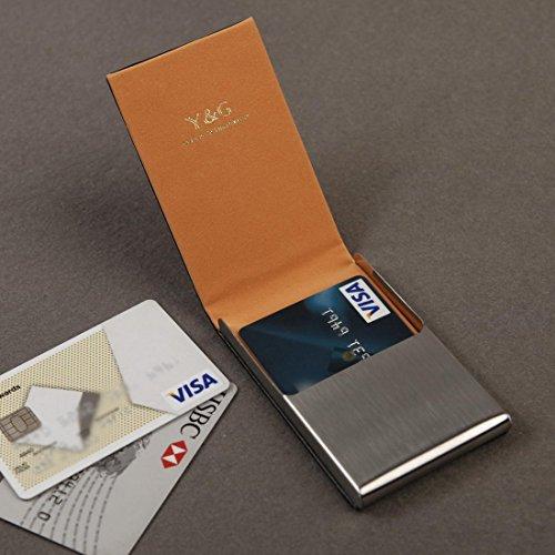 YDC05 Bester Visitenkarte-Halter-Leder-Karten-Kasten Ausgezeichneter Designer durch Y&G CC1019-Orange