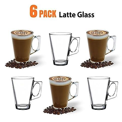 Latte-Macchiato-Gläser, 235ml / 8oz 6 Stück - Kompatibel mit Tassimo Kaffeemaschine & die meisten (Latte Macchiato Tasse)