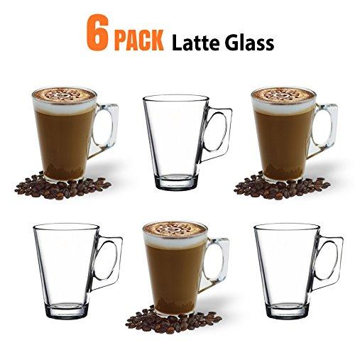 Latte-Macchiato-Gläser, 235ml / 8oz 6 Stück - Kompatibel mit Tassimo Kaffeemaschine & die meisten Kaffeemaschinen
