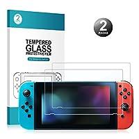 Nintendo Switch Display Schutzfolie - Younik 0,25 mm/9H Premium gehärtetes Glas Displayschutz für Nintendo Switch(2 Packungen)