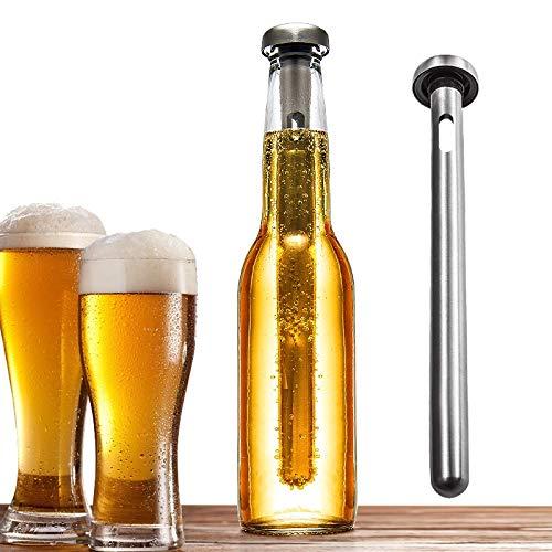 sunbre - Edelstahl Getränk Bier Chiller Stick Drink Flasche Rod Sofortige tragbar Kühlung Sticks Edelstahl Tumbler Bieres Würze für Chiller Home Pool Strand und BBQ -