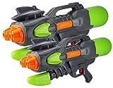 GYD XXXL Wassergewehr Doppel EXSHOT Super Shooter Splash Boomber DOPPELPACK 2 STK.