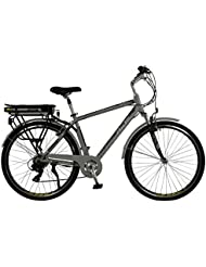 Current Mens Aluminium Electric Hybrid City Bike, Grey