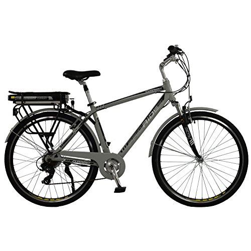 Current Mens Aluminium Electric Hybrid City Bike, Grey